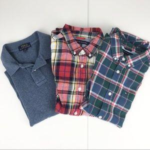 Boys Shirt Bundle Size Large - Short & Long Sleeve